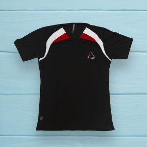 Camiseta Deportiva - Negra con rojo y blanco Ref 1760